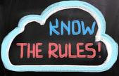 Sabe o conceito de regras — Foto Stock