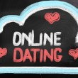 Online Dating Concept — 图库照片