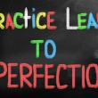 Practice Leads To Perfection Concept — Stockfoto #34997515