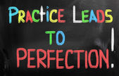 Practice Leads To Perfection Concept — 图库照片
