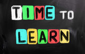 时间学习概念 — 图库照片