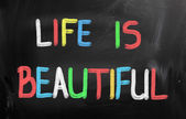 Life Is Beautiful Concept — Stock Photo