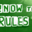 Stock Photo: Know Rules Concept