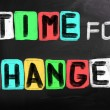 Stock Photo: Time For Change Concept