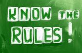 Kurallar konsept biliyorum — Stockfoto