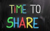 Tiempo para compartir concepto — Foto de Stock