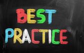 Concetto di pratica migliore — Foto Stock