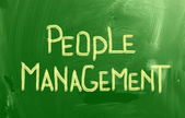People Management Concept — Stock Photo