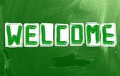 Concetto di benvenuto — Foto Stock