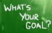 Whats Your Goal Concept — Stock Photo