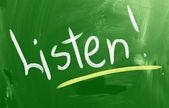 Listen Concept — Stock Photo