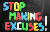 Stop Making Excuses Concept — Stock Photo