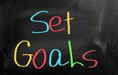 Set Goals Concept — Stock Photo