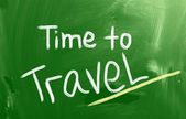 Time To Travel Concept — Stock Photo
