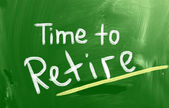 Time To Retire Concept — Stock Photo