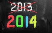 Happy New Year 2014 Concept — Stock Photo