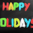 Stock Photo: Happy Holidays Concept