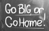 Go Big, Or Go Home Concept — Стоковое фото