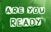 Are You Ready Concept — Stock Photo