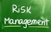 Koncepcja zarządzania ryzykiem — Zdjęcie stockowe