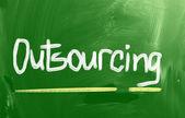 Outsourcing koncept — Stockfoto