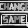 Stock Photo: Change Same Concept