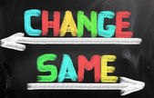 Change Same Concept — Stock Photo