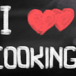 I Love Cooking Concept — Stock Photo