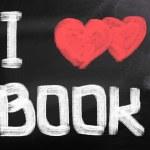 I Love Book Concept — Stock Photo
