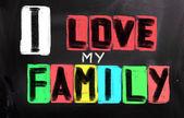 J'aime le concept de ma famille — Photo