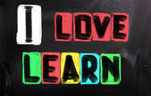 I Love Learn Concept — Foto de Stock