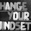 Change Your Mindset Concept — Stock Photo