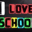 I Love School Concept — Stock Photo