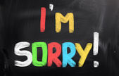 I'm Sorry Concept — Stockfoto