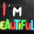Stock Photo: I Am Beautiful Concept