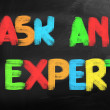 Stock Photo: Ask Expert Concept