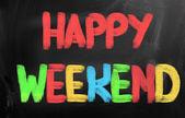 Conceito de feliz fim de semana — Fotografia Stock