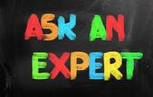 Ask An Expert Concept — Stock Photo