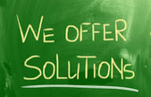 We Offer Solutions Concept — Stock Photo