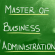 Stock Photo: Master Of Business Administration Concept