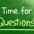Time For Questions Concept — Stock Photo #38241251