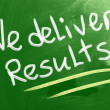 We Deliver Results Concept — Foto Stock