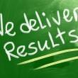 We Deliver Results Concept — ストック写真
