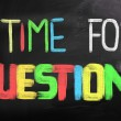 Time For Questions Concept — Stock Photo