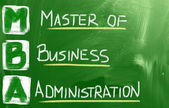 Master Of Business Administration Concept — Photo