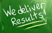 We Deliver Results Concept — Stock Photo