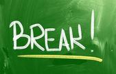 Break Concept — Stock Photo
