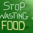 Stock Photo: Stop Wasting Food Concept