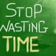 Stock Photo: Stop Wasting Time concept