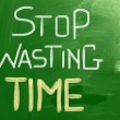 Stop Wasting Time concept — Stockfoto